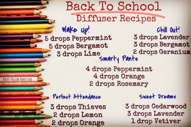 back to school diffuser recipes